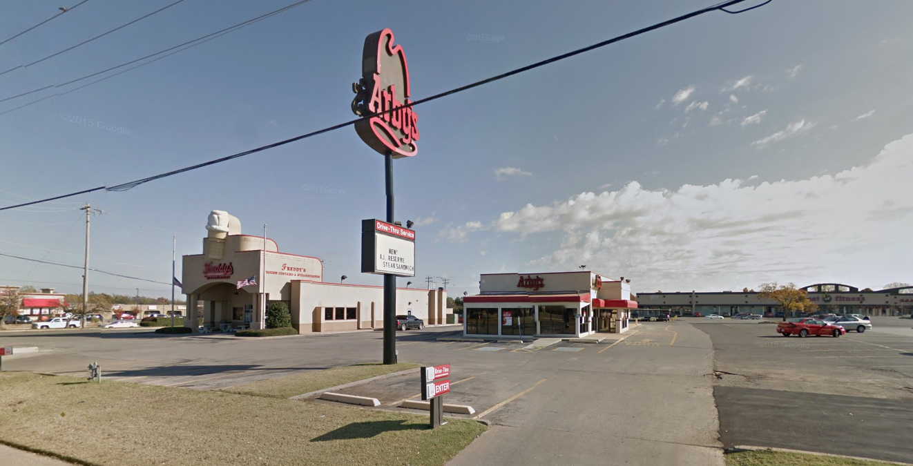 Arby's which was attacked by Mr Anderson, Google Street View