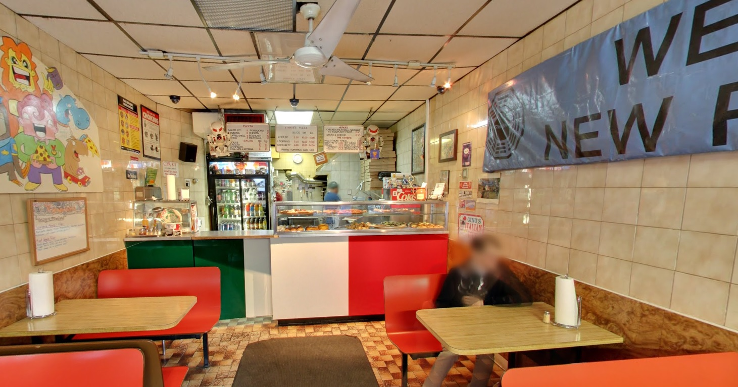Inside Vinnie's Pizza, Google Street View