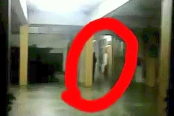 The black figure was captured on a students camera phone, Philip Golingai/Twitter