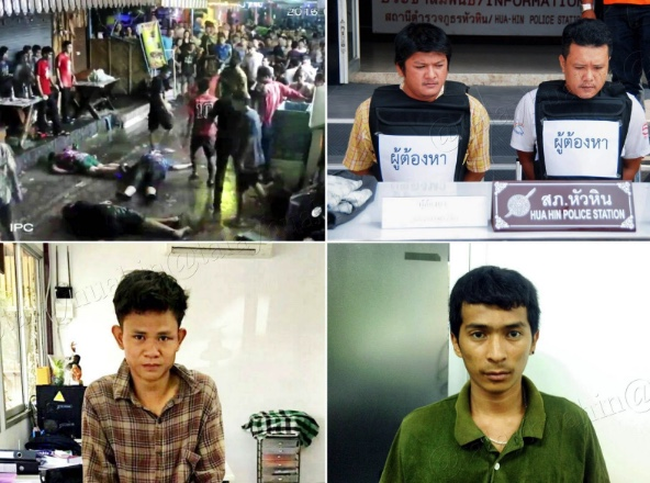 Thai attackers caught, Kulsawek Sawekwannakorn/Facebook