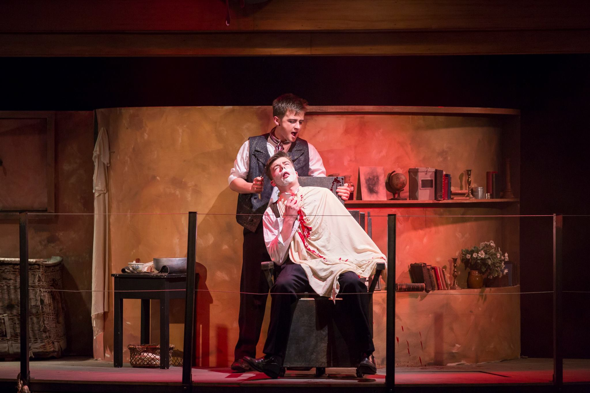 Students Neck Cut After School Performance Of Sweeney Todd