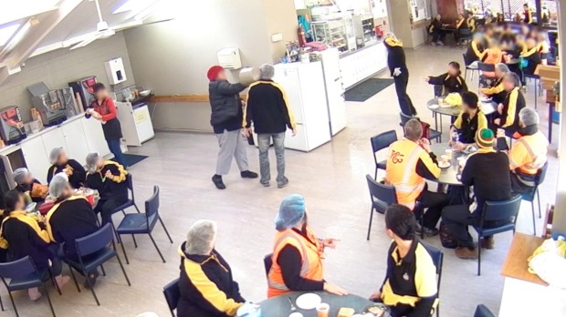 Bucket retaliation, Turners and Grower's security footage