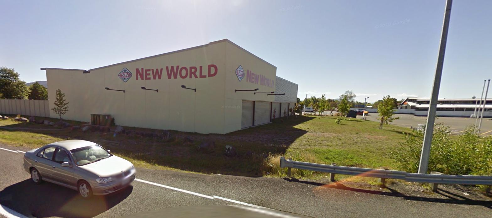 New World Supermarket on a regular day, Google Street View