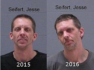 Jesse Michael Seifer, pictured in 2015 and 2016, Makato Police Office