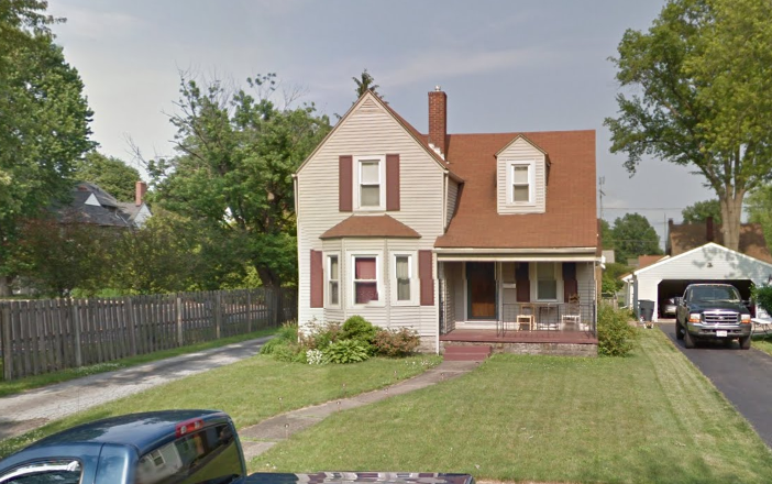 Williams home prior to it being shot up, Google Street View