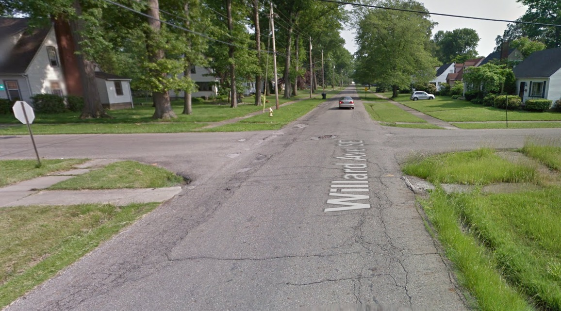 Intersection of Willard and South Street, Google Street View