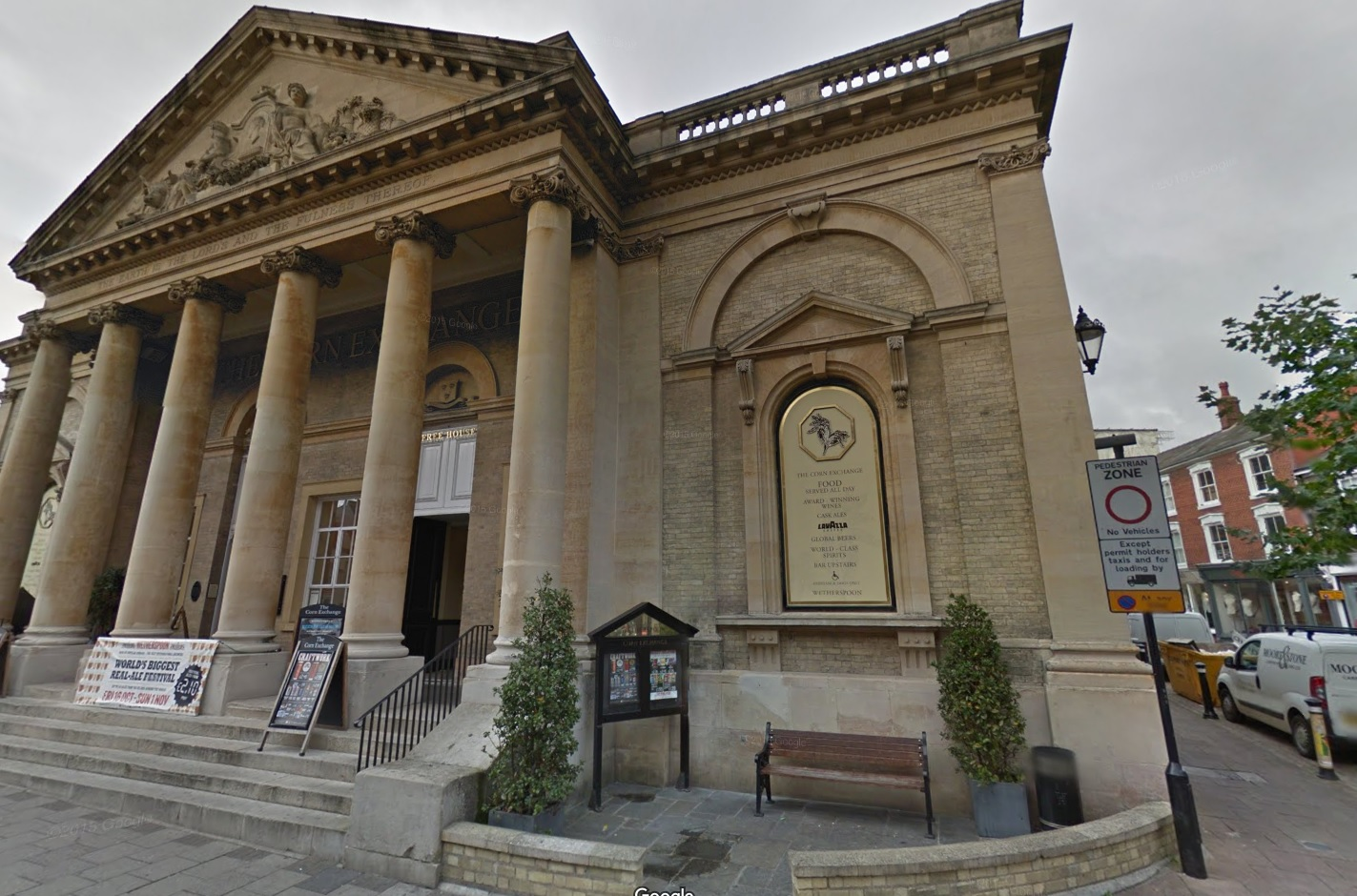 The Corn Exchange Wetherspoons pub, Google Street View