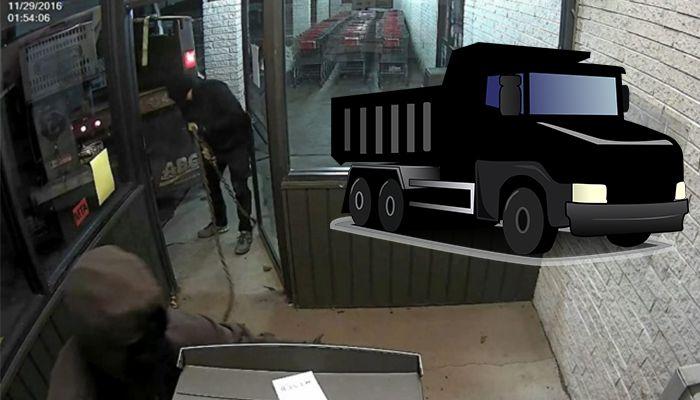 Dump truck ATM robbery