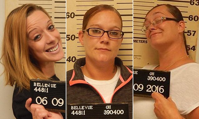 From left to right: Mary Jordan, Sammie Whaley, Ashley England, Bellevue Police Department