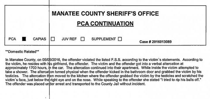 Police Statement, Manatee County Police