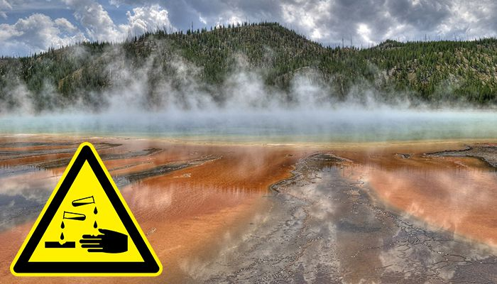 Yellowstone dissolving man