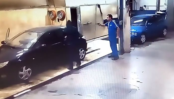 Car wash thief