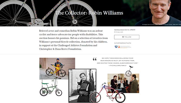 Robin Williams bicycle collection