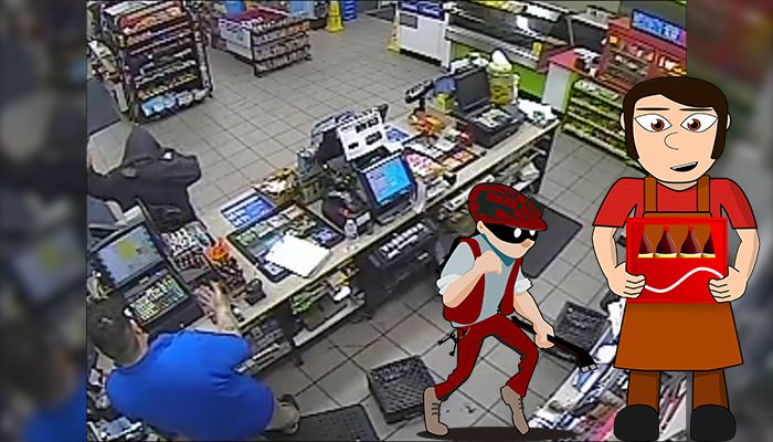 Huge clerk throw out robbery suspect in laredo