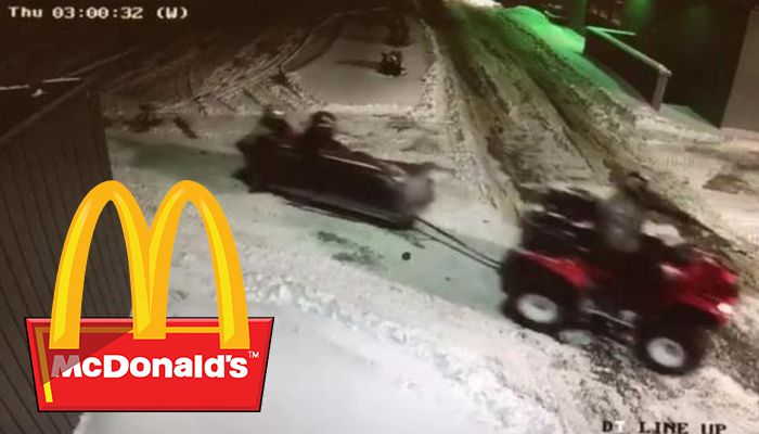 Couch McDonalds ATV drive thru