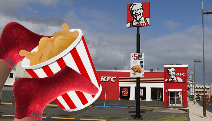 Man fails to rob Kfc with socks on his hands